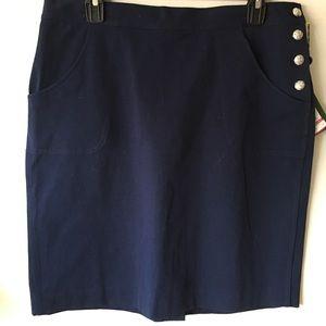 Ralph Lauren Premium Navy Cotton Skirt